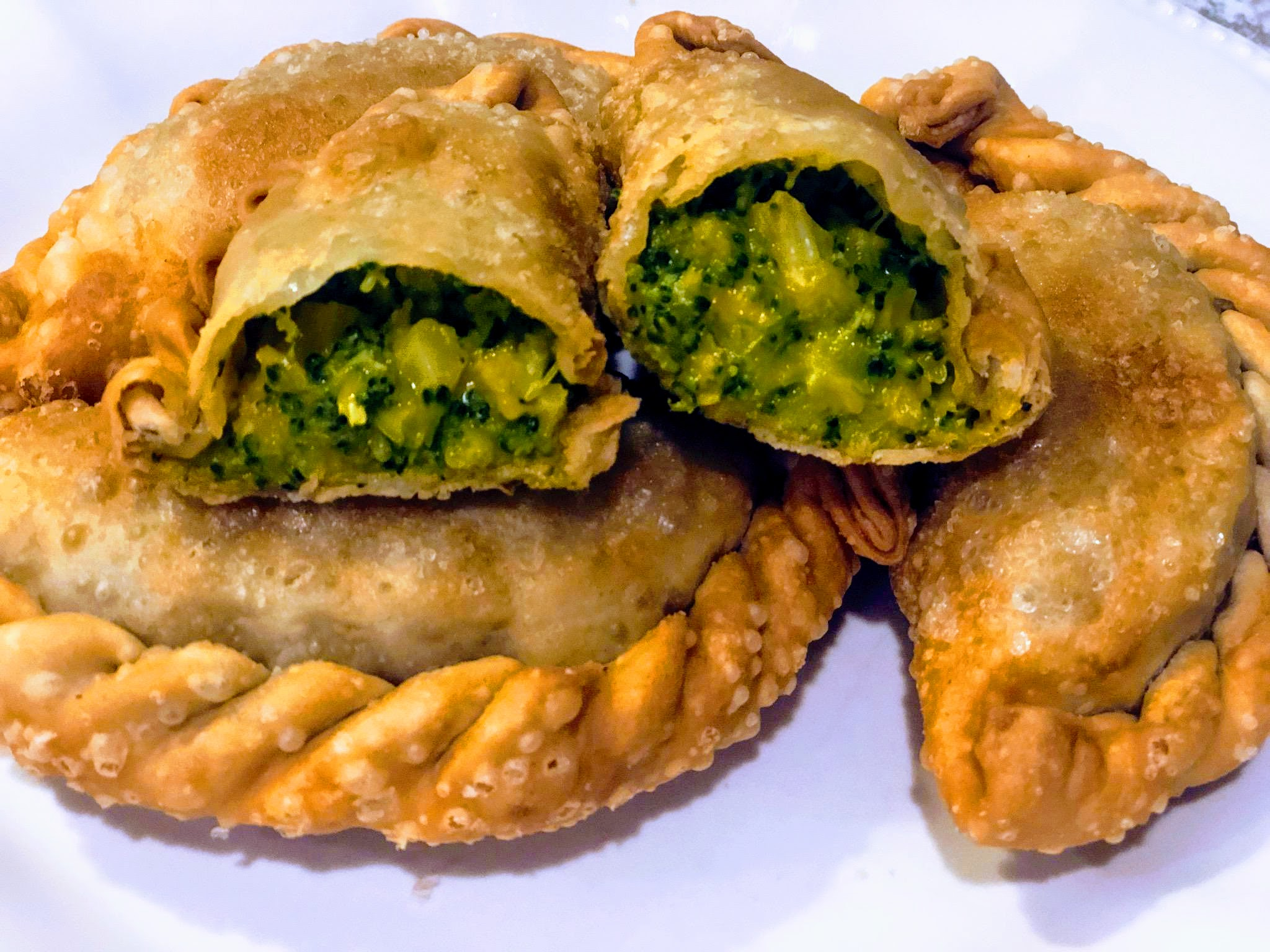 Broccoli and cheese empanada